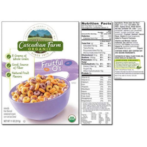 Cascadian Farm Fruitful Os Cereal
