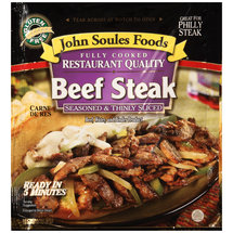 John Soules Foods Seasoned & Thinly Sliced Beef Steak