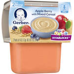Gerber 2nd Foods Apple Berry with Mixed Cereal Baby Food