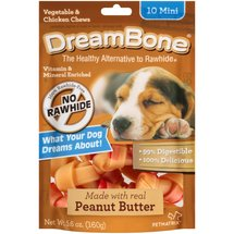 DreamBone Vegetable and Chicken Peanut Butter Mini Dog Chews
