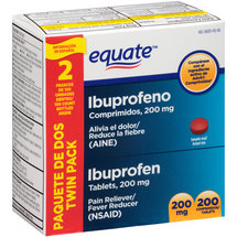 Equate Ibuprofen Pain Reliever/Fever Reducer (NSAID) Tablets (Pack of 2)
