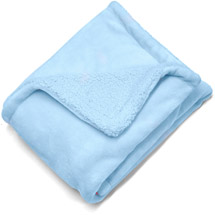 Heritage Club Royal Plush/Sherpa Reversible Throw Light Blue