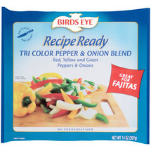 Birds Eye Recipe Ready Tri Color Pepper & Onion Blend Frozen Vegetables