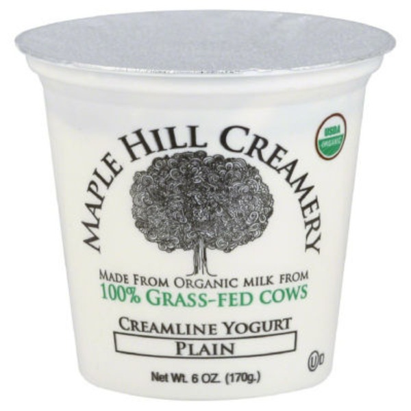 Maple Hill Creamery Creamline Yogurt, 100% Grass-Fed, Organic, Plain