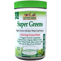 Country Farms Super Greens Alkalizing Greens Blend Natural Flavor Dietary Supplement Powder