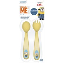 Zak! Toddlerific Minion Toddler Fork and Spoon Flatware