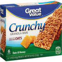 Great Value Oat & Honey Granola Bars