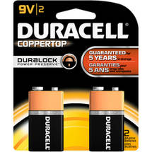 Duracell Coppertop Alkaline Batteries 2 Batteries/Pack
