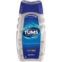 Tums Antacid/Calcium Supplement Ultra 1000 Maximum Strength Peppermint Value Size