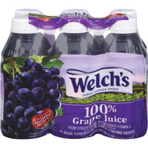 Welch's Single Serve 100% Grape Juice 6 Ct/60 Fl Oz