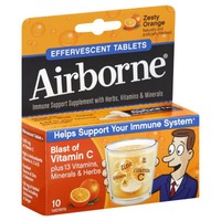 Airborne Zesty Orange Effervescent Tablets Immune Support Supplement