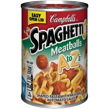 Campbell's Spaghettios Meatballs A to Z's