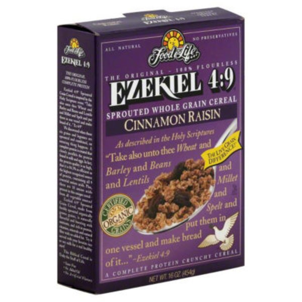 Ezekiel 4:9 Cinnamon Raisin Sprouted Whole Grain Cereal