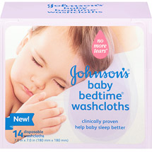 Johnson's Baby Bedtime Disposable Washcloths