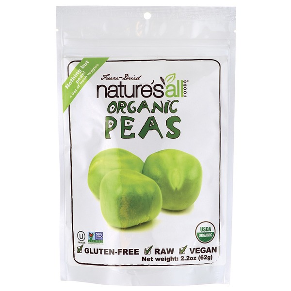 Nature's All Foods Freeze Dried Organic Peas