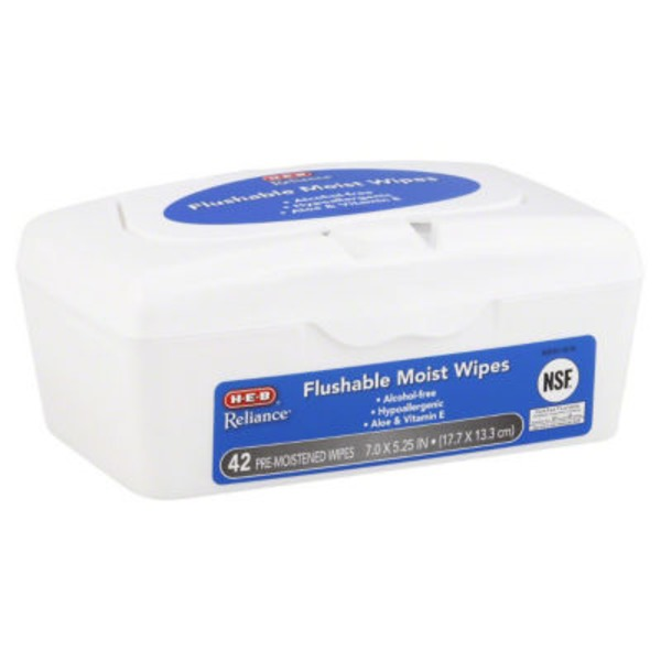 H-E-B Reliance Flushable Moist Wipes