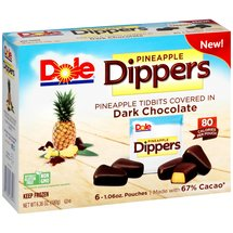 Dole Pineapple Dippers Pineapple Tidbits Covered in Dark Chocolate