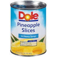 Dole Canned Fruit Slices In Heavy Syrup Pineapple