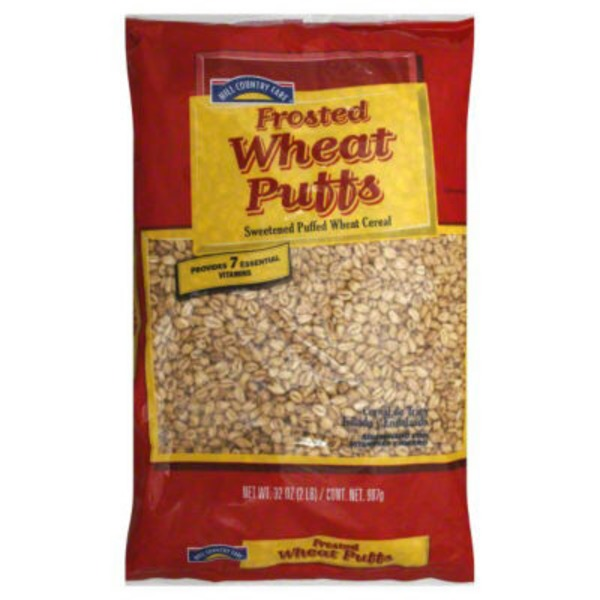 Hill Country Fare Frosted Wheat Puffs