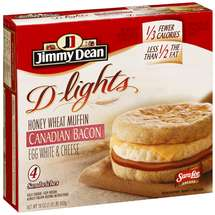 Jimmy Dean's D-lights Canadian Bacon Muffin 4 Ct/18 Oz