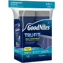 GoodNites TruFit Bedwetting Underwear for Boys Starter Pack S/M Boy