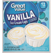 Great Value Vanilla Ice Cream Cups