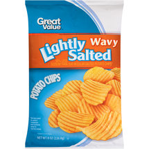 Great Value Wavy Lightly Salted Potato Chips