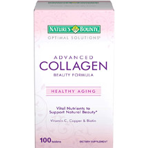 Nature's Bounty Optimal Solutions Advanced Collagen Beauty Formula Dietary Supplement Tablets