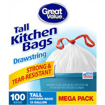 Great Value Tall Kitchen Bags