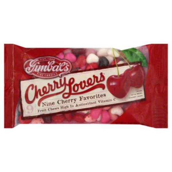 Gimbals 9 Cherry Favorites Fruit Chews