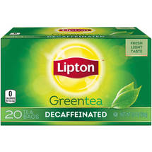 Lipton Naturally Decaffeinated Green Tea Bags