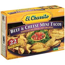 El Charrito Mini Beef and Cheese Tacos