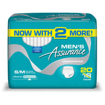 Assurance for Men Maximum Absorbency Protective Underwear Small/Medium