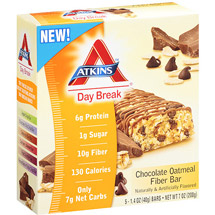 Atkins Day Break Chocolate Oatmeal Fiber Bar