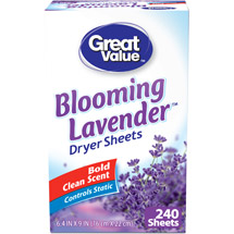 Great Value Blooming Lavender Dryer Sheets