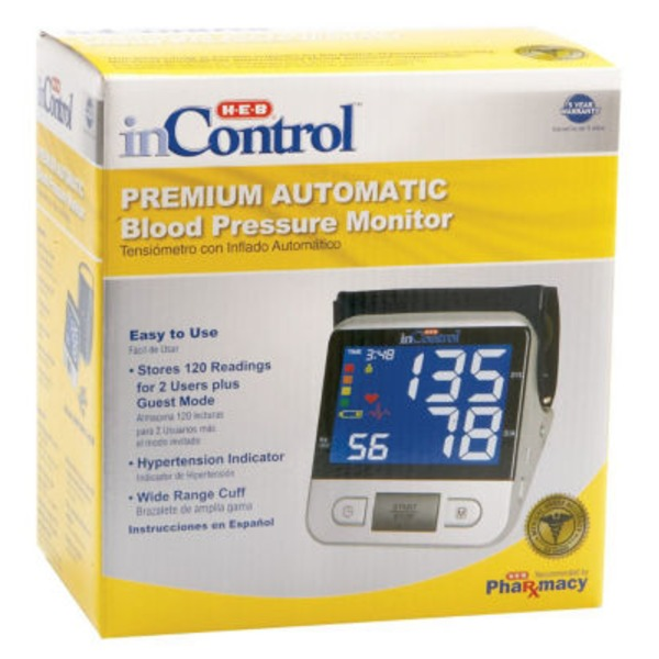 H-E-B In Control Premium Automatic Blood Pressure Monitor