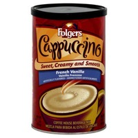 Folgers Cappuccino Instant Coffee Beverage Mix French Vanilla