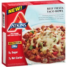 Atkins Beef Fiesta Taco Bowl Frozen Meal