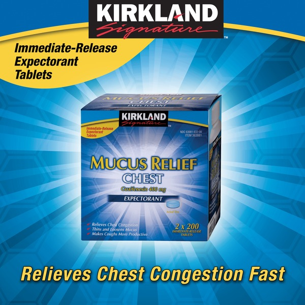 Kirkland Signature Mucus Relief Tablet