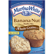 Martha White Banana Nut Made w/Whole Grains Muffin Mix