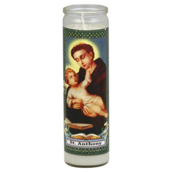 Reed Candle Company The Original Prayer Candle St Anthony White Wax
