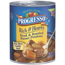 Progresso Steak & Roasted Russet Potatoes Soup Rich & Hearty