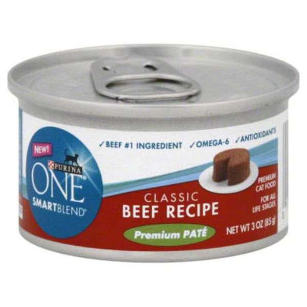 Purina One Cat Wet Grain Free Classic Beef Recipe Cat Food
