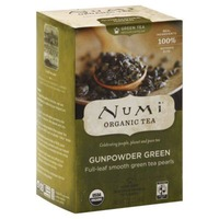 Numi Organic Green Tea Bags Gunpowder Green - 18 CT