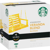 Starbucks Blonde Ground Coffee Keurig K-Cups Veranda Blend