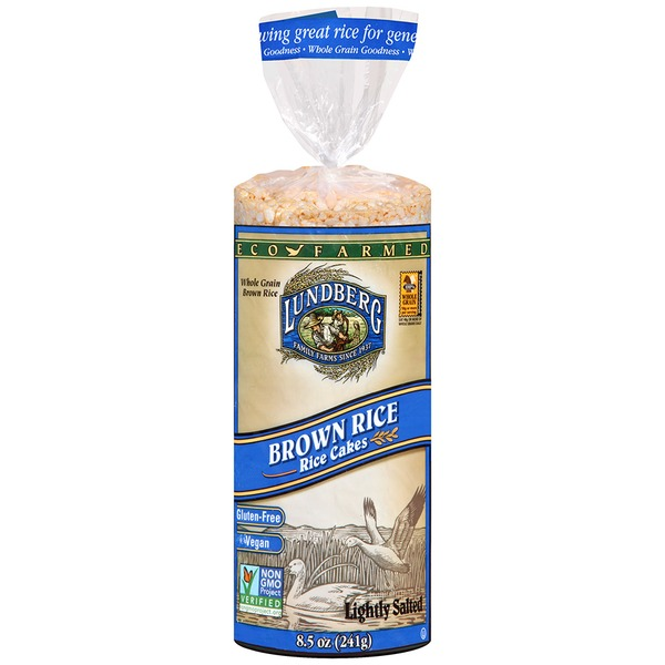 Lundberg Family Farms EF Brn Rice Rice Cake Lightly Salted Eco-Farmed Rice Cakes