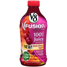 V8 V-Fusion Black Cherry Apple Vegetable & Fruit 100% Juice