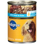 Pedigree Meaty Ground Dinner With Beef & Liver Can Dog Food
