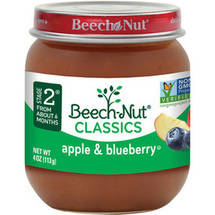 Beech Nut Apples & Blueberries Stage 2 Baby Food
