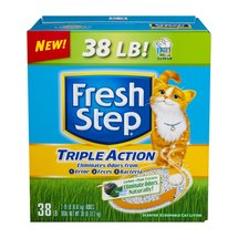 Fresh Step Triple Action Odor Control Scoopable Cat Litter Scented
